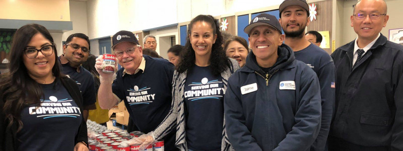 Suburban Water Systems Volunteers at Food Drive
