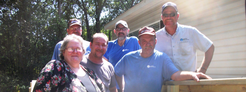 Monarch Utilities Builds Handicap Ramp with Labor of Love
