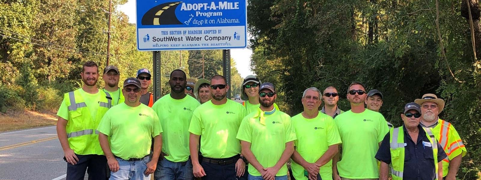 SouthWest Water Company Alabama Team Continues With Adopt-A-Mile Efforts